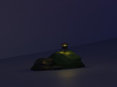 Low Poly Japanese Lantern