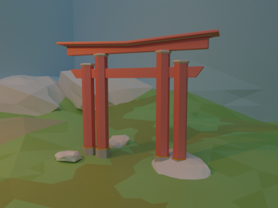 Low Poly Japanese Arch