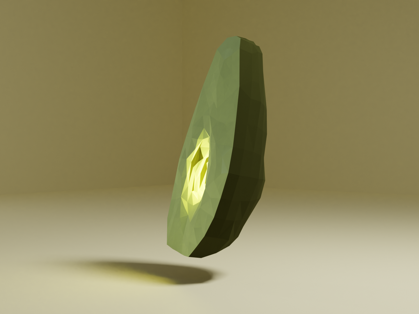Low Poly Avocado mistery light avocado blender low poly 3d