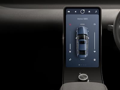 Volvo console dash console car vehicle hmi s90 volvo