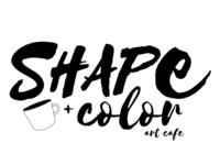 Shape + Color Art Cafe - Logo B&W