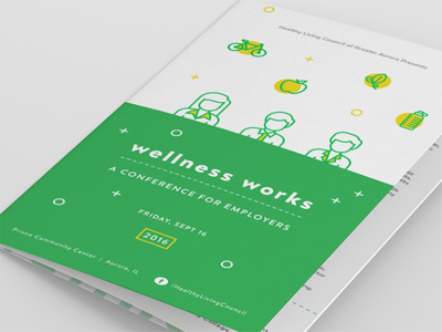 Wellness Works Conference Program trifold handout brochure wellness conference program program conference wellness works