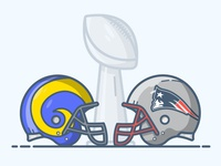 Superbowl LIII Patriots vs Rams