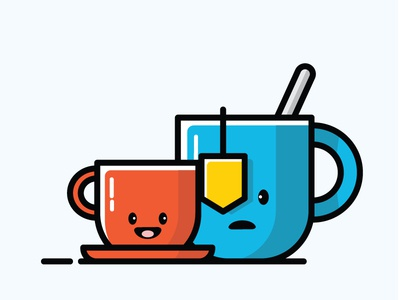 Cup of tea and coffee