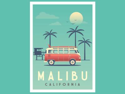 Malibu Vintage poster