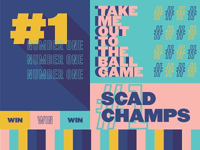 SCAD Champs Board type logo art sports athletics design scad