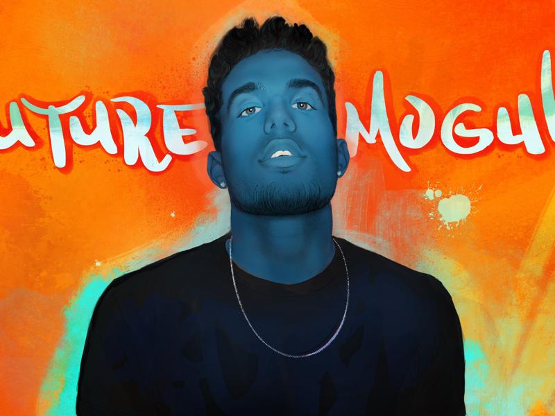 Future Mogul orange blue color illustration music rap