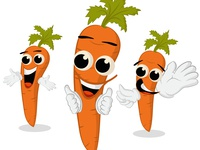 CARROT CHARACTER EXPRESSION