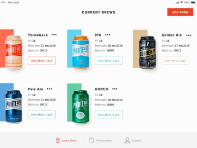 Brewing App Concept