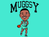 Muggsy Bogues Caricature