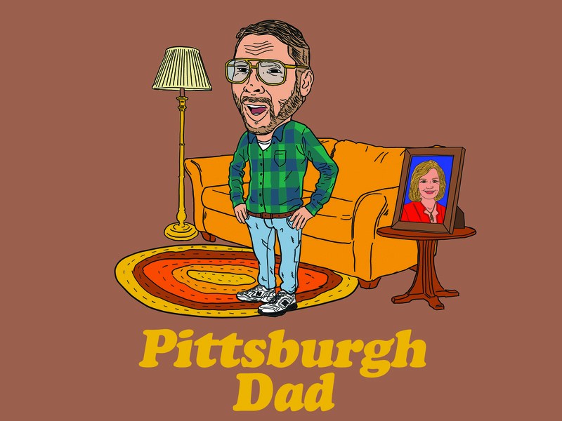 Pittsburgh Dad adobe sketch adobe photoshop 80s photoshop illustration illustrator pittsburgh dad dad pittsburgh