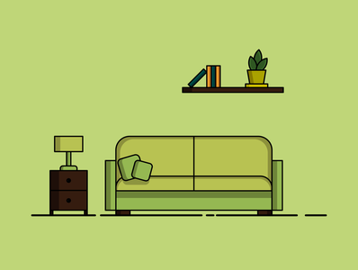 green living room vector illustration vectorart vectors flat illustration flat design illustration art illustrations illlustrator illustraion flatdesign designs adobe flat vector graphicdesign art design adobeillustator illustrator illustration