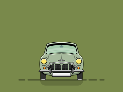 mini cooper classic front digitalart artwork graphics graphic green flatdesign design art illustration art illustrations illustraion vector designs illustrator clean graphicdesign adobeillustator art flat illustration design