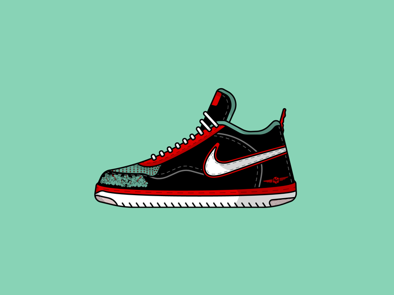 nike's from dream sneaker art sneaker illustration sneakers shoe vectorart illustration art illustrations illustraion nike air nike minimal vector design clean designs graphicdesign adobeillustator art flat illustration