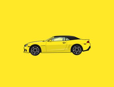 camaro ss 2015 design art cars car yellow camaro graphics illustraion illustration art illustrations illustrator adobeillustator designs minimal art vector clean graphicdesign flat illustration design