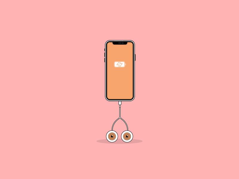 overcharge adobe illustrator adobe minimalistic minimalism flat illustration flatdesign phone apple illustrations illustraion graphicdesign adobeillustator art clean illustrator flat vector minimal illustration design