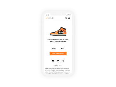 Off Chance - Welcome! visual mobile minimal identity branding animation ux ui design app
