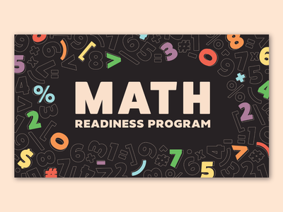 Math Readiness Program - Intro Slide typography nebraska omaha illustration intro screen title title slide adobe illustrator mathematics education rainbow color numbers math animation video