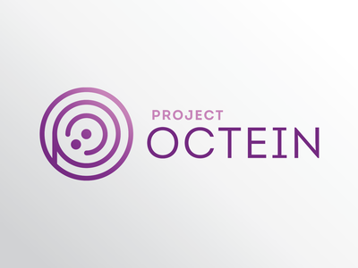 Project Octein logo logos adobe illustrator logo design gradient purple higher education information technology inclusion diversity omaha nebraska nebraska omaha technology mark branding design branding logo