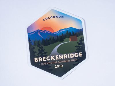 Breckenridge sticker stickers retreat nature mountain sticker art stickermule colorado badge typography vector graphic design adobe illustrator illustration print design sticker