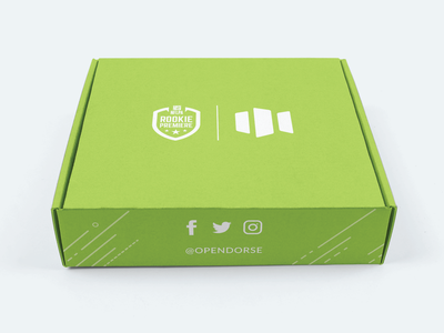 NFLPA Rookie Premiere Box - outside nfl design athlete marketing sports green vector lincoln nebraska illustration adobe illustrator packlane box design packagingdesign packaging box rookie