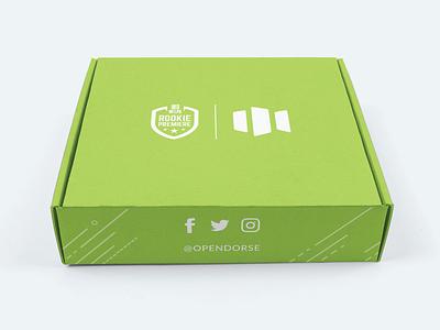 NFLPA Rookie Premiere Box - outside nfl design athlete marketing sports green vector lincoln nebraska illustration adobe illustrator packlane box design packagingdesign packaging box rookie