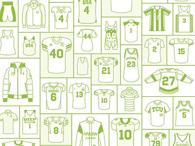 Locker Room sport lincoln jersey design lincoln nebraska nebraska illustration adobe illustrator lineart linework green print design locker sports jacket polo jersey