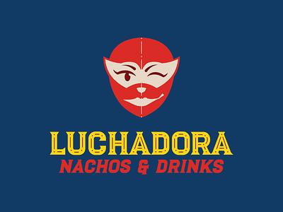 Luchadora logo design design illustration graphic design adobe illustrator mexican luchadora luchador red serif typography logodesign branding logo mexican restaurant mexican food