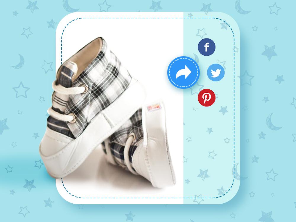 Social Share kids sharebutton socialshare uiux sketch blue daily 100 challenge dailyui uiuxdesign
