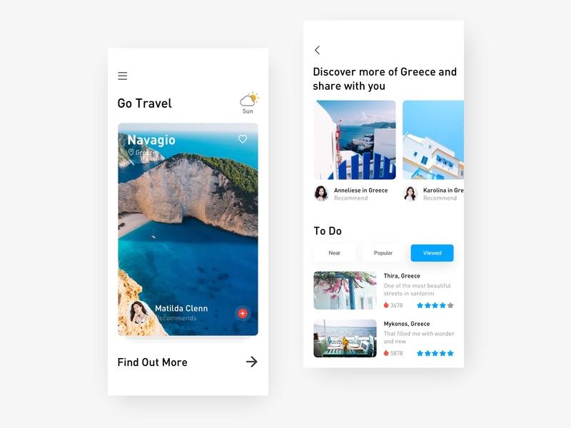 Travel app 5 branding app ux ui design