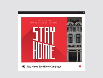 Stay home - coronavirus prevention banner.