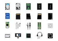 Pc Personal computer vector icons computer pc design graphic illustration vector