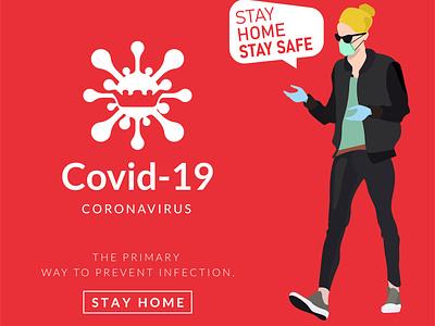 Covid-19 Coronavirus concept vector design. isolated influenza infection illustration illness human health care health flu fever epidemic disease dangerous danger coronavirus corona biology bacteria background attention