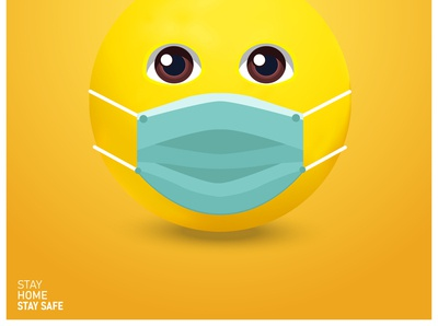 Face with Medical Mask Emoji mascot mascot design coronavirus virus covid emoji avatar