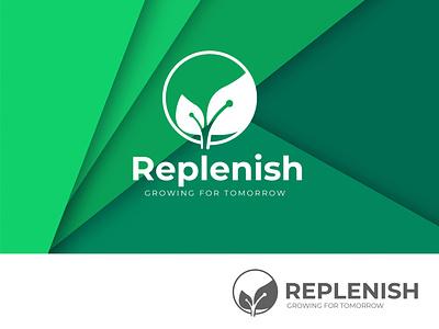 Replenish Growing for tomorrow logodesign
