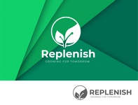 Replenish Growing for tomorrow logodesign
