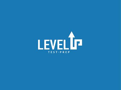 Level up test prep logo concept vector logo design level up logo