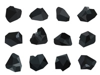 Pile of charcoal coal