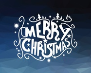 Merry Christmas Calligraphy Lettering design