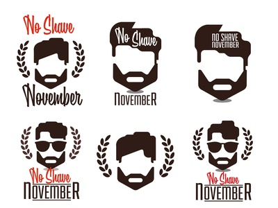 No shave November design, prostate cancer awareness,