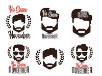 No shave November design, prostate cancer awareness,