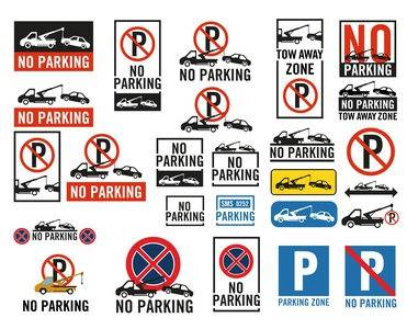 No Parking,Parking signs