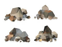Rock and stone vector