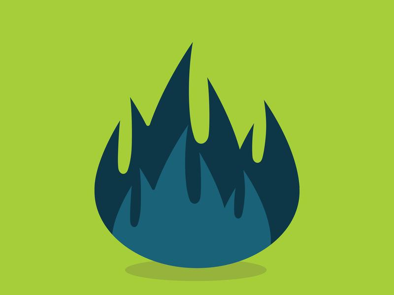Blue fire hot bonefire fire blue fire