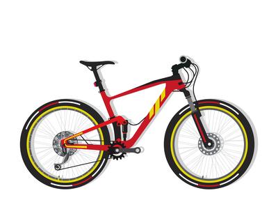 Full suspension mountain bike vector design