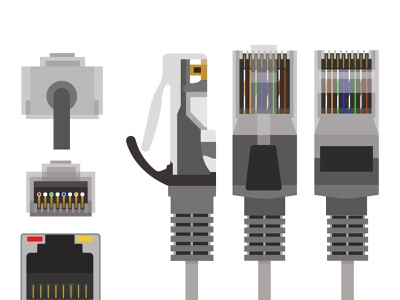 Types of Network Cables and Network Cable Connectors