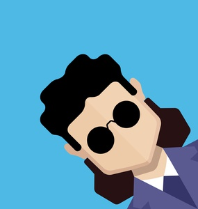 Young boy avatar with sunglasses