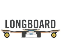 Longboard vector design