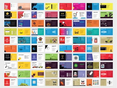 Creative business card collection business card template business card