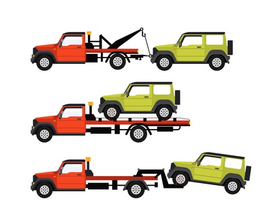 Car Towing Trucks, towing trucks with broken cars